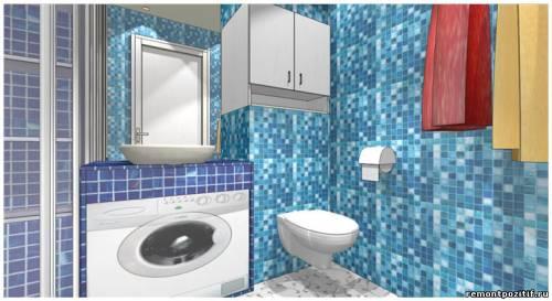 дизайн ванной комнаты в типовой квартире дома башня вулыха