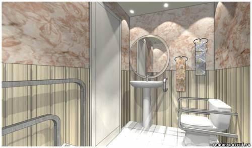 готовый дизайн ванной комнаты