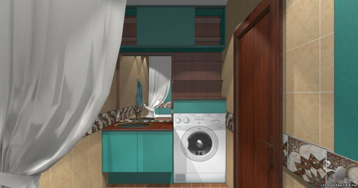 дизайн ванной в бирюзовом цвете
