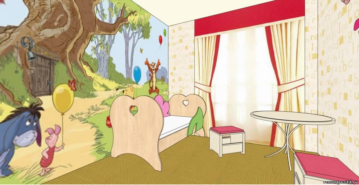 интерьер детской для девочки в желтом цвете