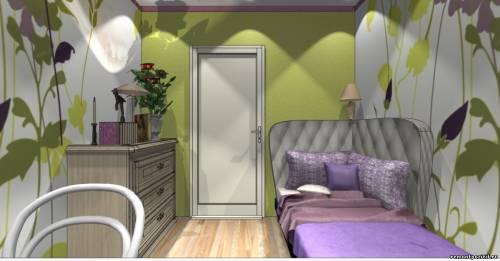 Дизайн детской узкая комната