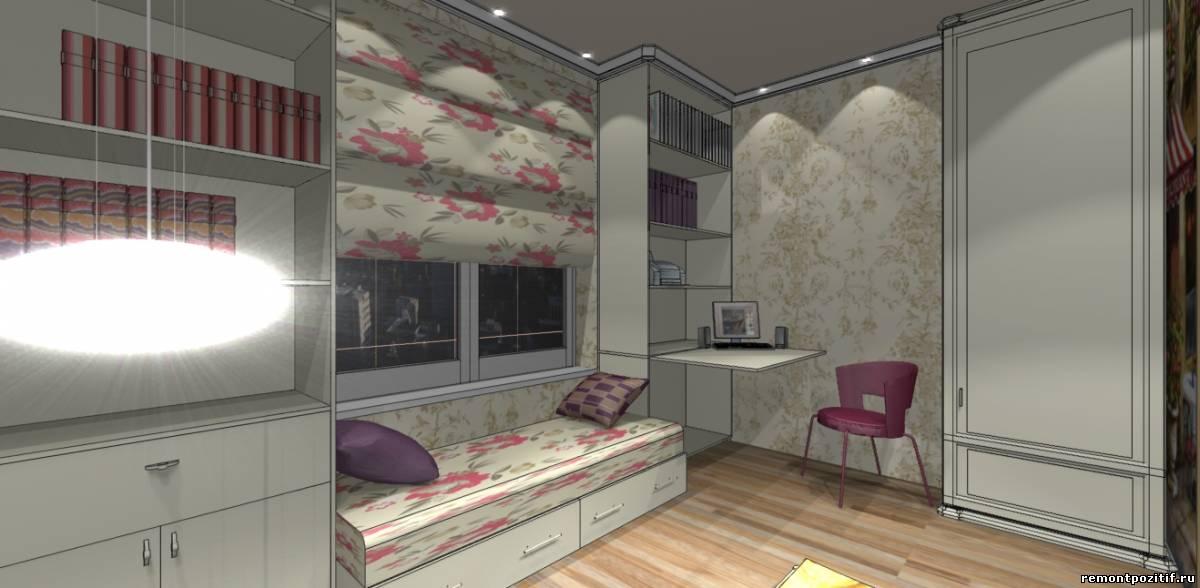 дизайн комнаты для девочки в романтическом стиле