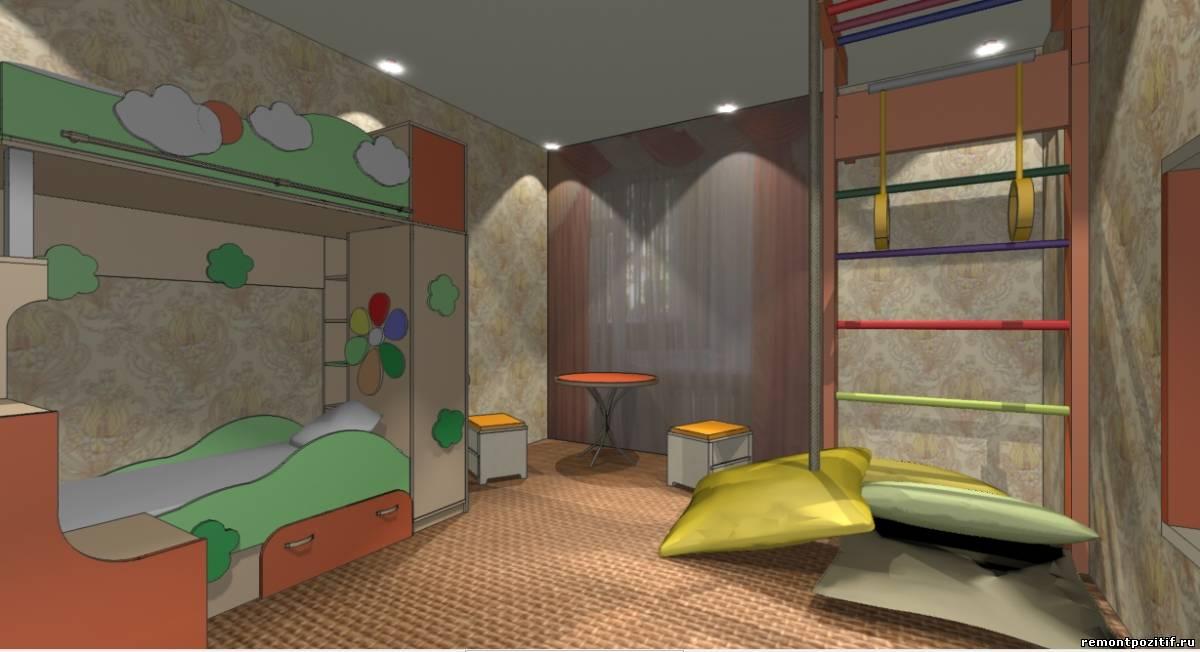 детская комната для двоих детей мальчика и девочки