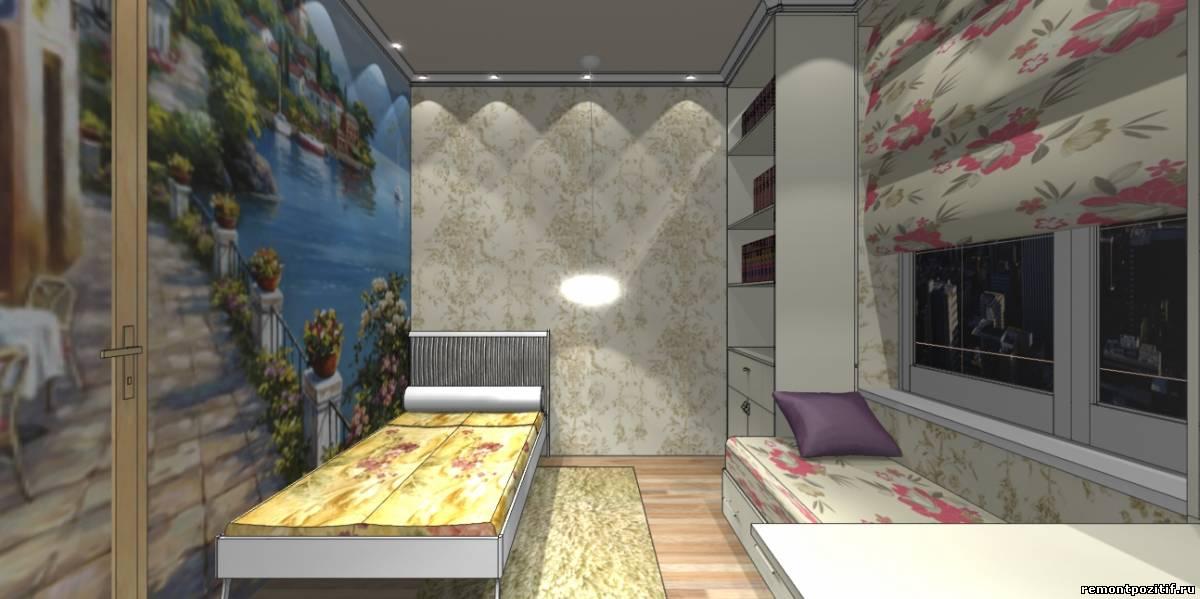 дизайн комнаты для молодой девушки в стиле романтизм