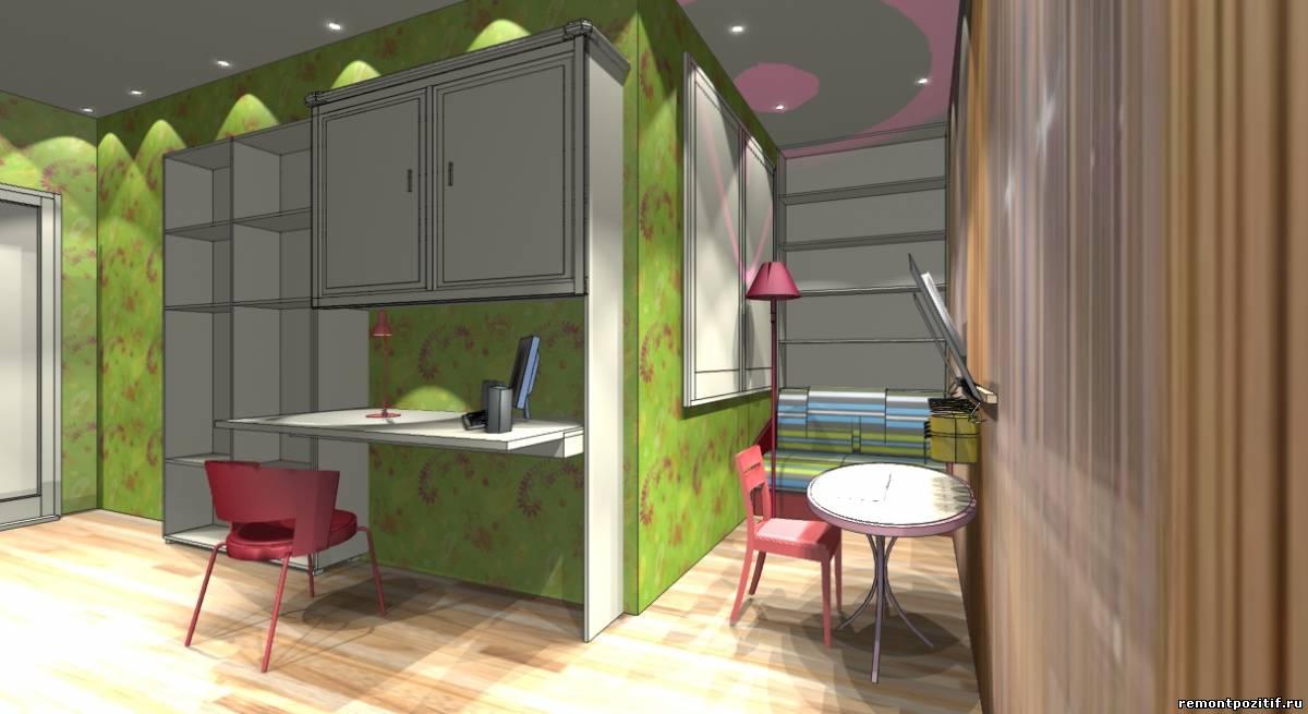 детская комната для двух девочек в типовой квартире