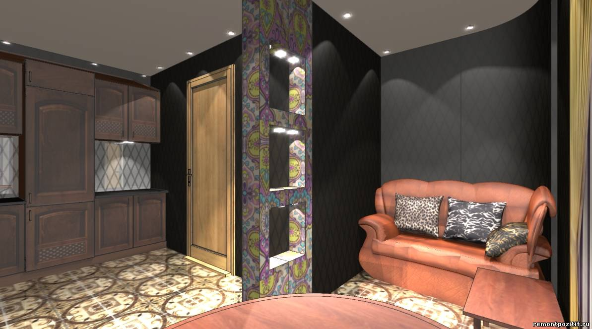 кухня совмещенная с лоджией в доме серии п 111 м