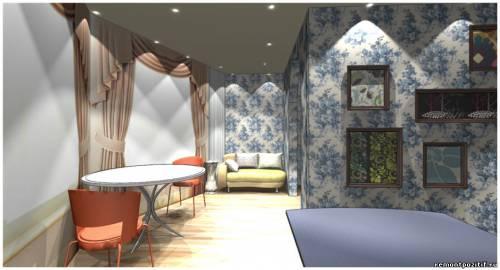 дизайн кухни с лоджией в доме серии С 111 М