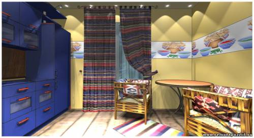 дизайн проект кухни в мексиканском стиле