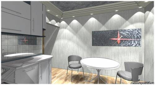 дизайн небольшой кухни минимализм