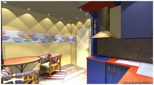 дизайн небольшой кухни в мексиканском стиле