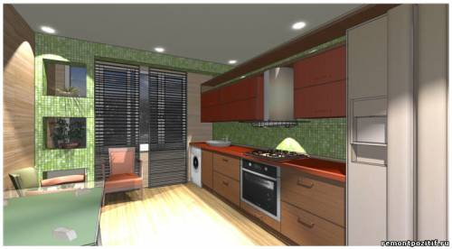 дизайн кухни с лоджией в типовой квартире