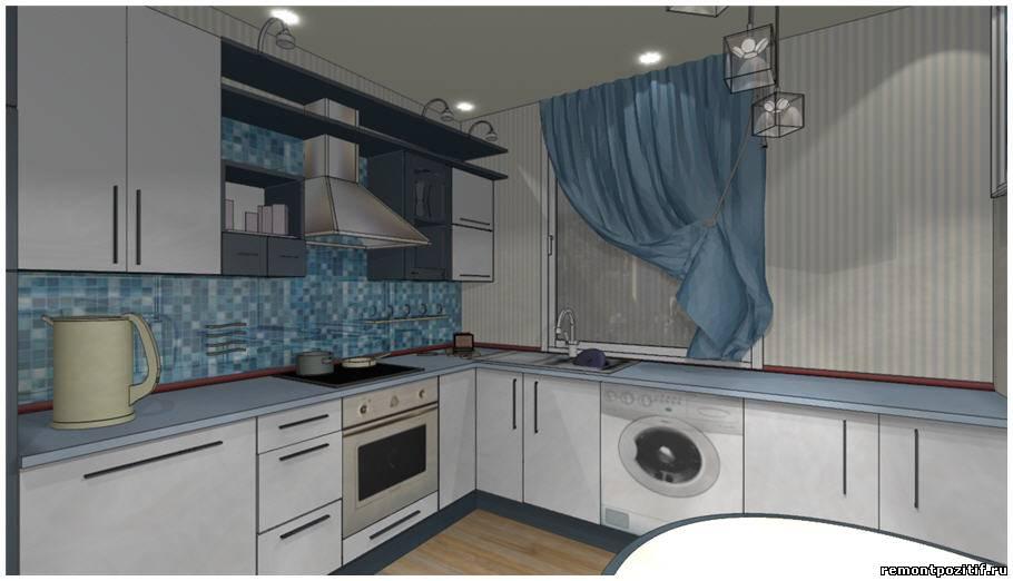 идеи дизайна кухни 10 кв м