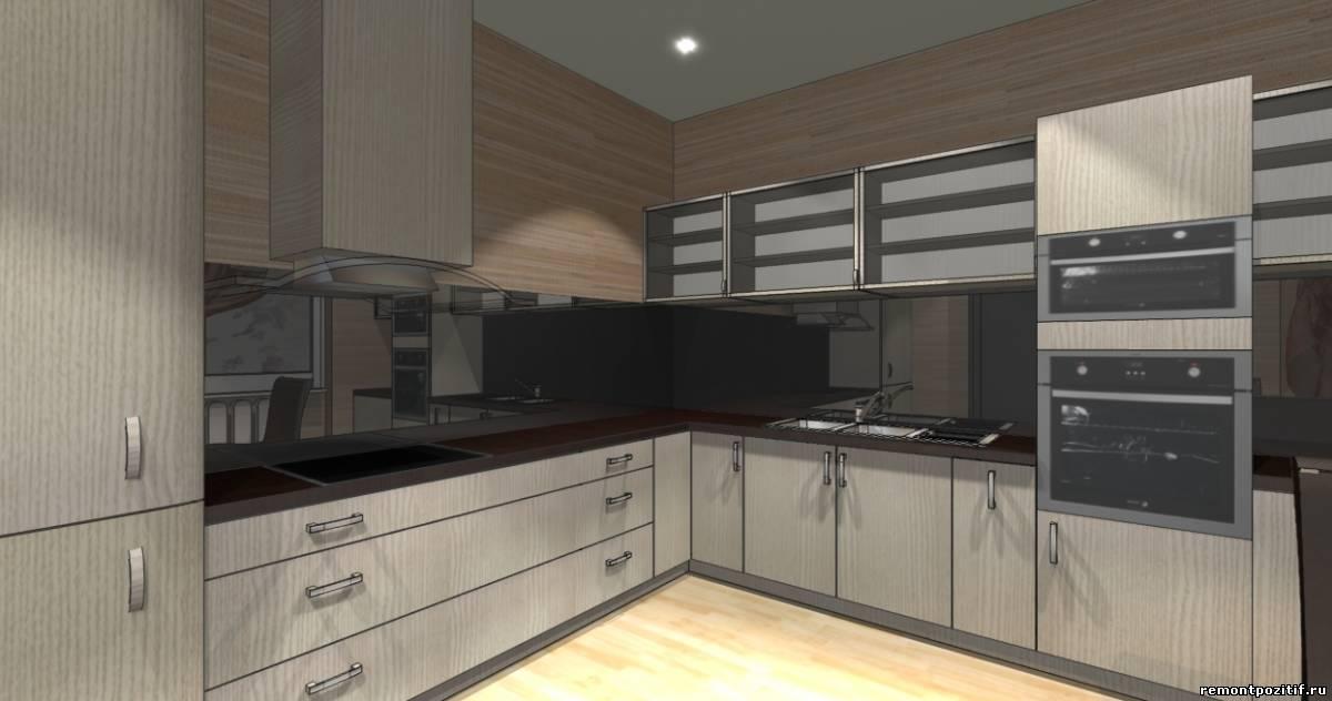 интерьер кухни в стиле техно