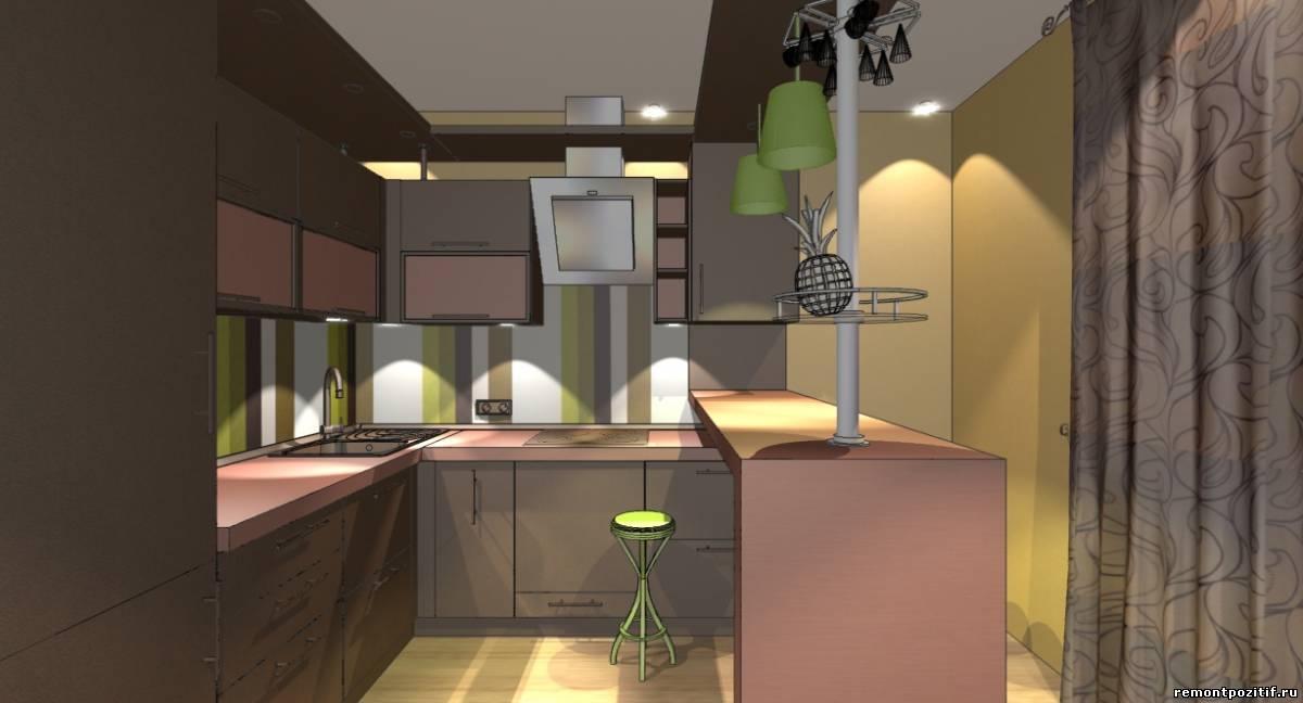 дизайн кухни цвета кофе с молоком