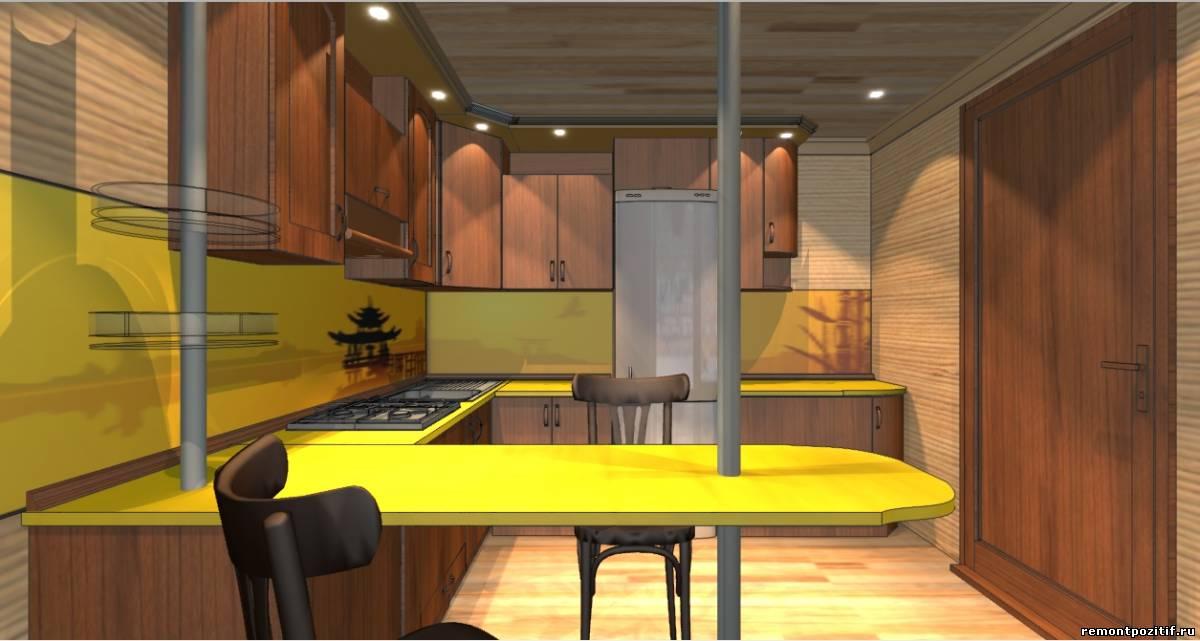 дизайн кухни в стиле фьюжн