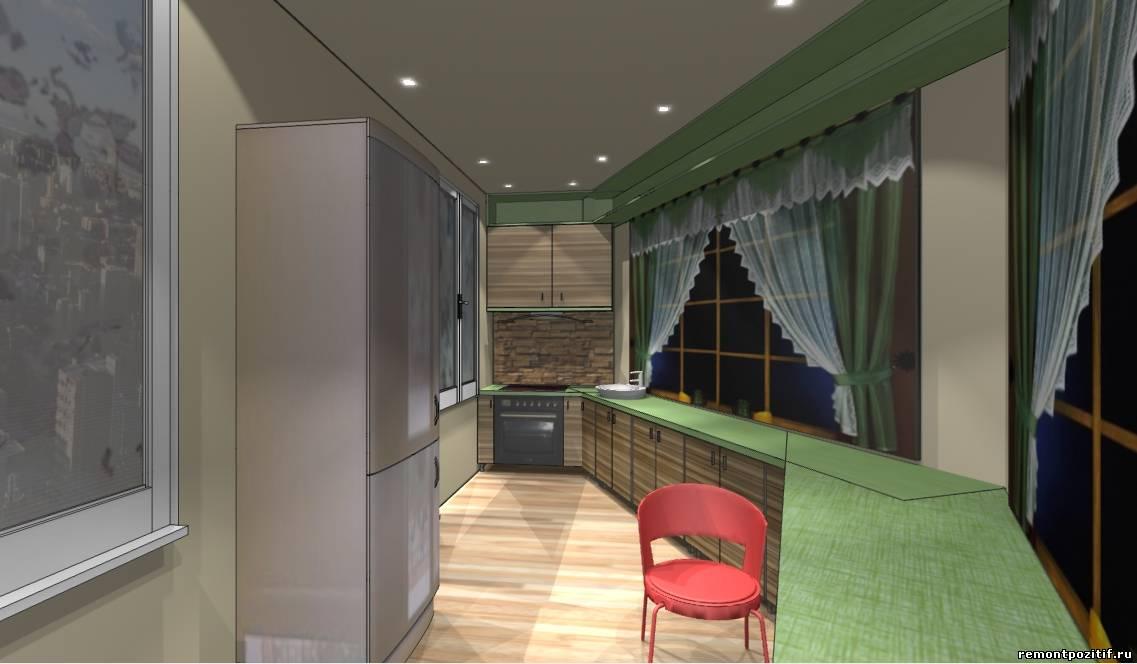 дизайн маленькой кухни на лоджии