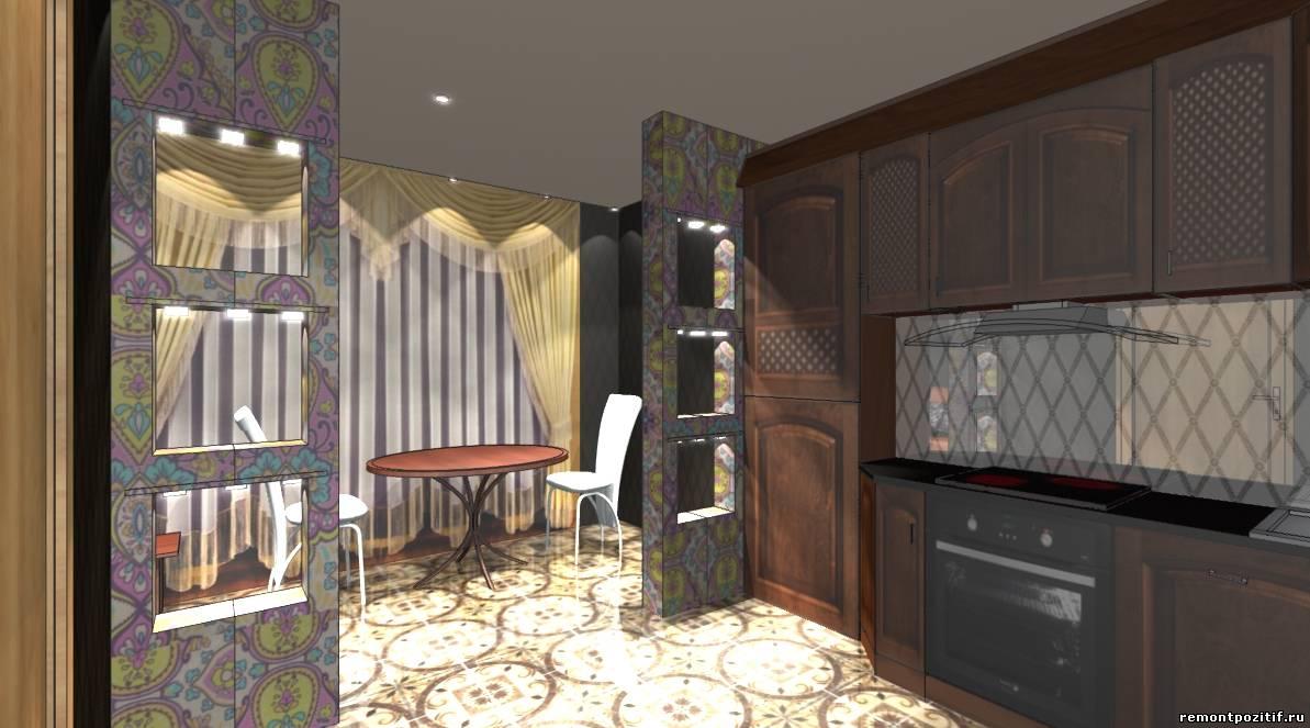 дизайн кухни совмещенной с лоджией в доме серии п 111 м
