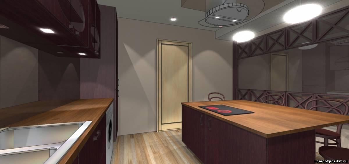 интерьер кухни острова 11 кв м