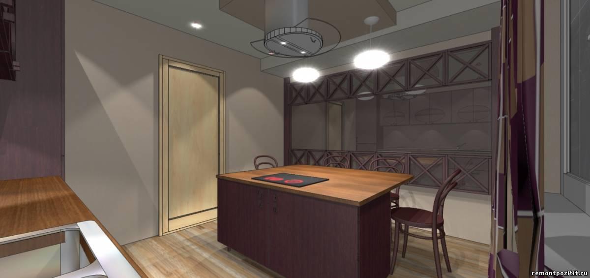 дизайн островной кухни 11 кв м