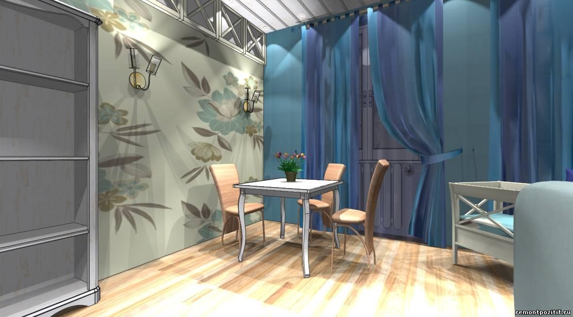 дизайн столовой гостиной в стиле прованс
