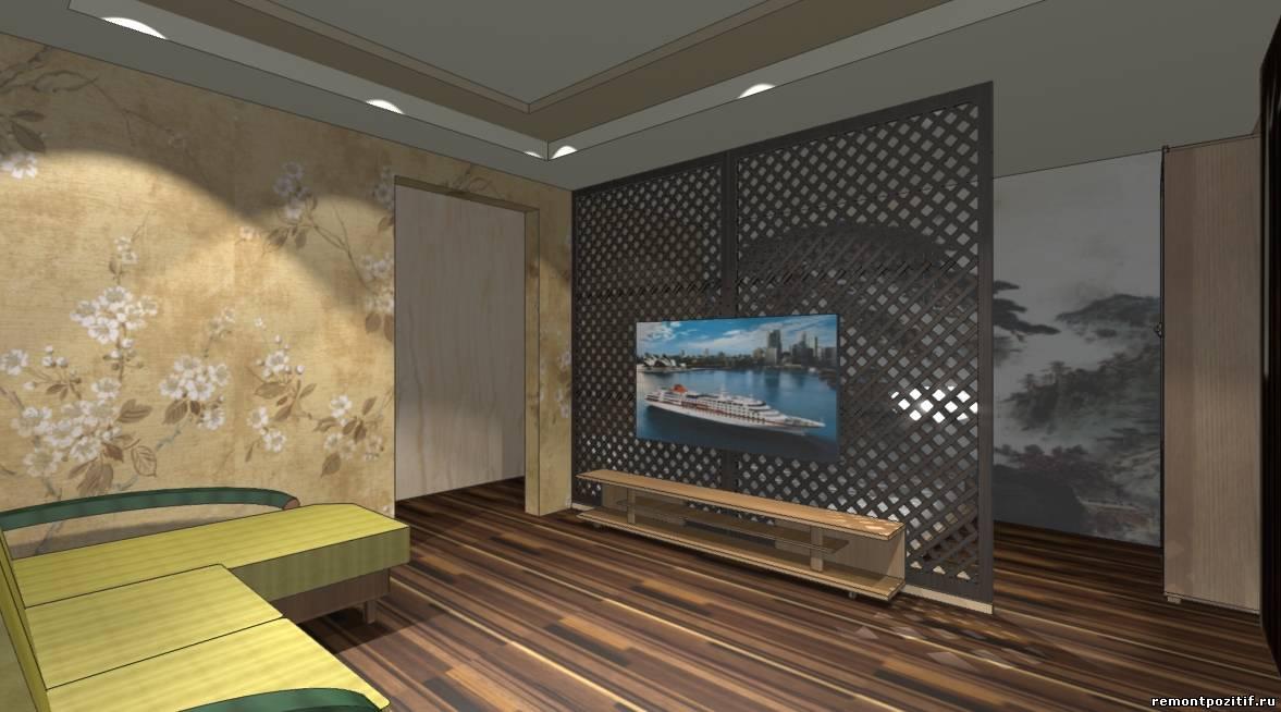 дизайн совмещенной гостиной спальни