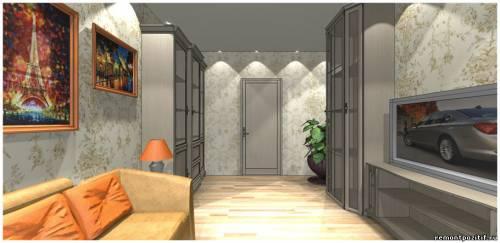 Гостиная комната дизайн в сером цвете