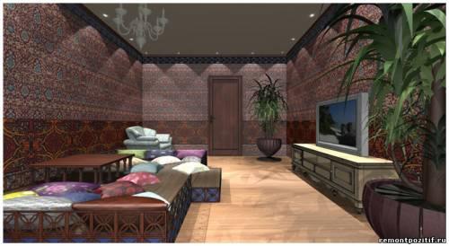 дизайн гостиной в марроканском стиле
