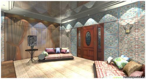 дизайн гостиной в турецком стиле