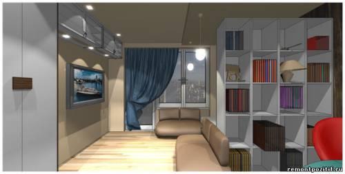 дизайн гостиной спальни кабинета