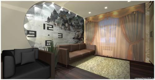 гостиная с китайскими мотивами в интерьере