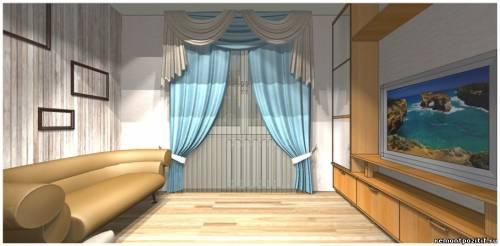 Небольшая гостиная: дизайн в светлых тонах