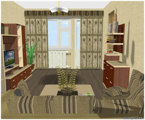 дизайн гостиной в хрущевке для пожилых людей