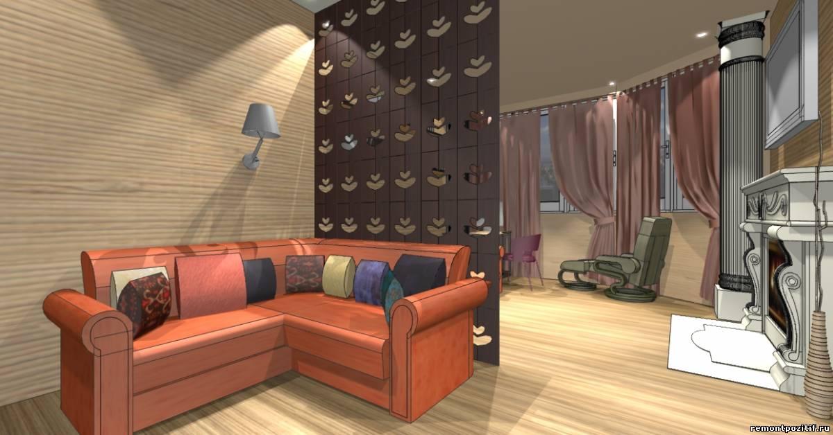 дизайн гостиной с местом для подростка