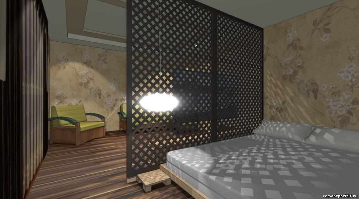 интерьер совмещенной гостиной спальни