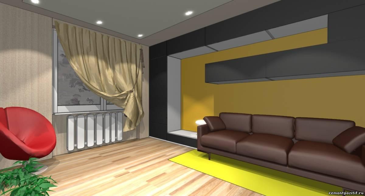 дизайн гостиной в стиле конструктивизм