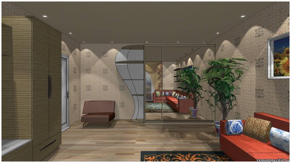 Большая комната 18 кв.м дизайн