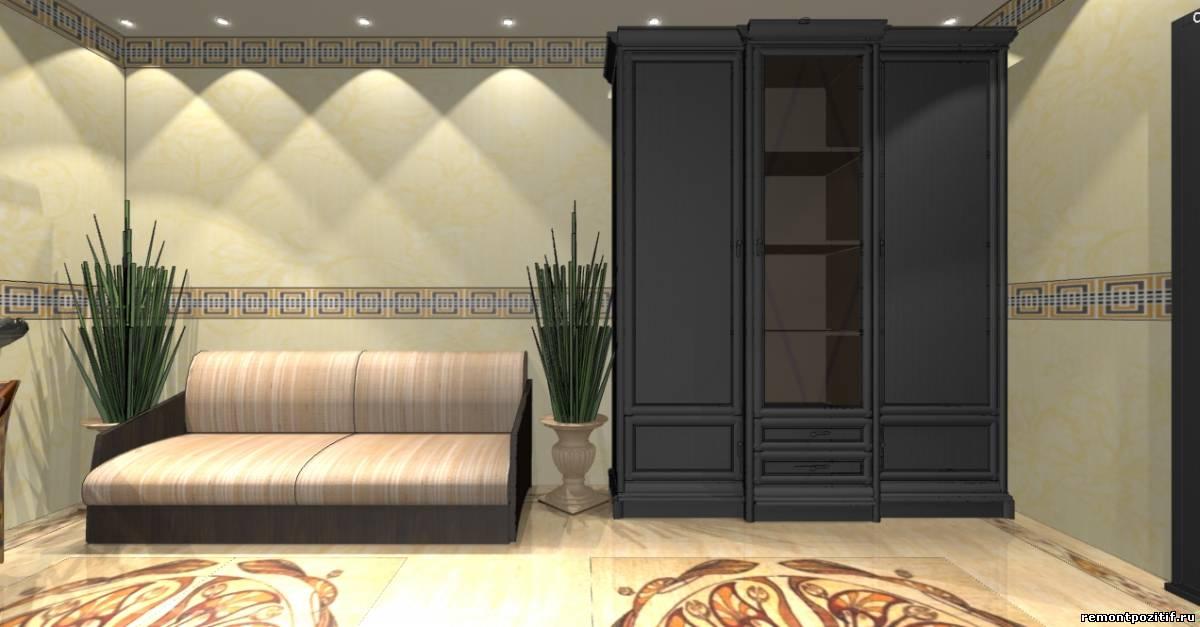 интерьер гостиной комнаты в египетском стиле