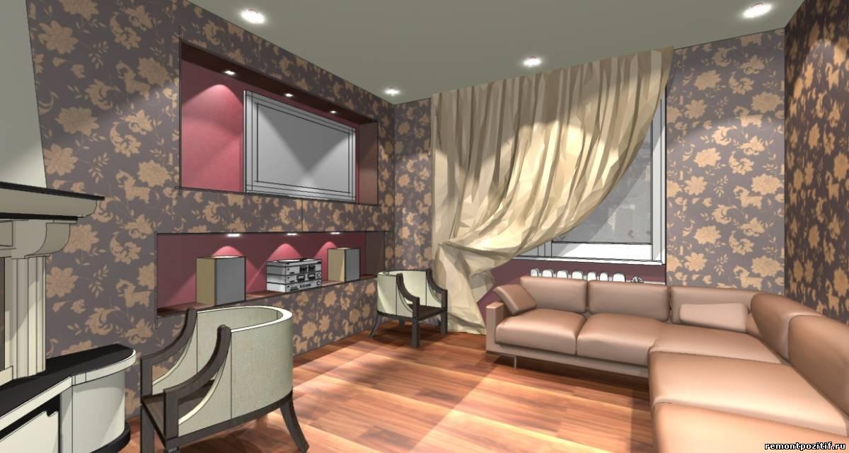 дизайн шоколадной гостиной