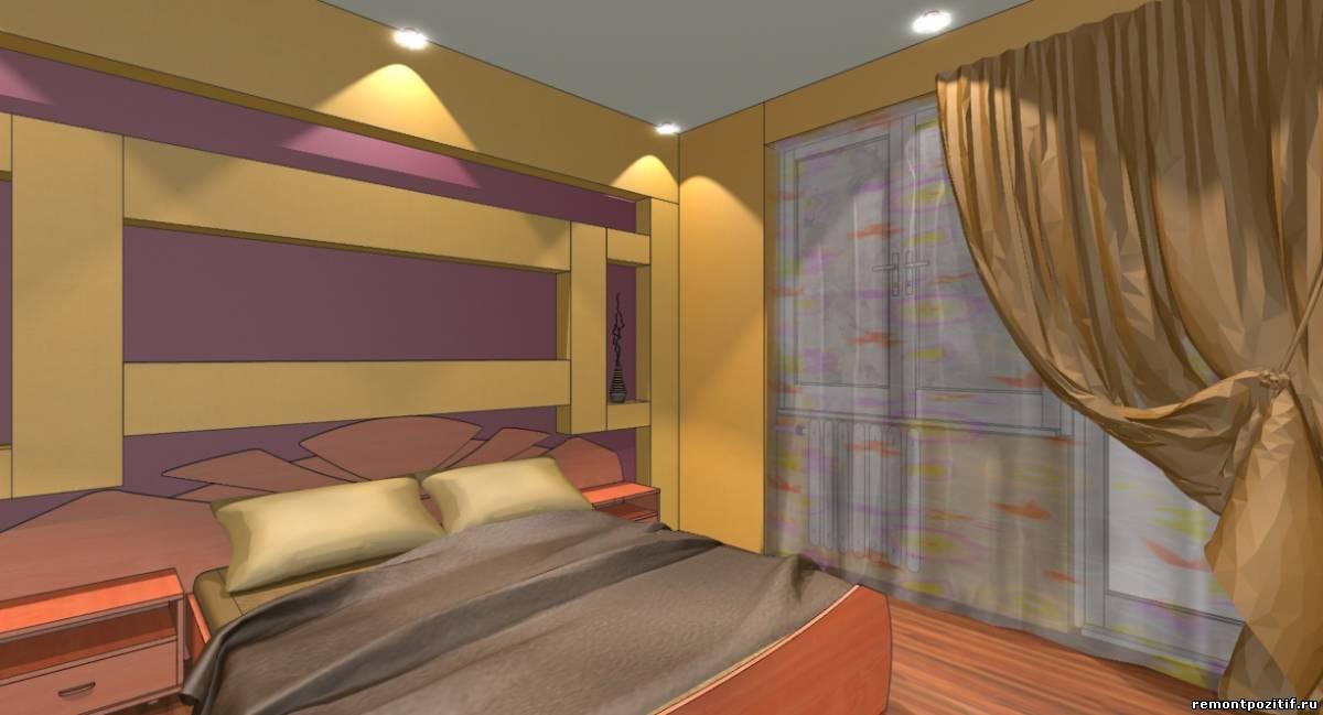 интерьер спальни в персиковом цвете