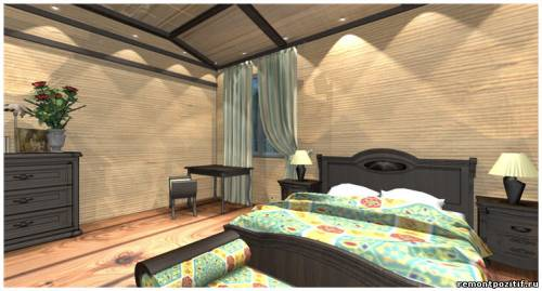 дизайн интерьера спальни в стиле Малайзии