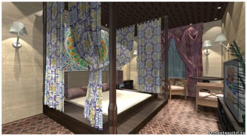 дизайн проект спальни в индонезийском стиле
