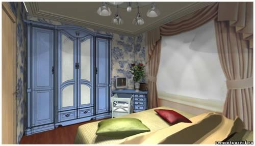 готовый проект дизайна спальни