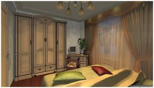 дизайн проект небольшой спальни