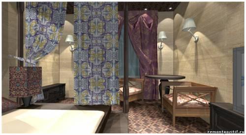 дизайн интерьера спальни индонезийский стиль