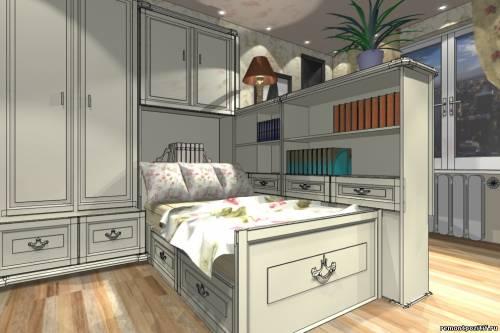 дизайн комнаты для девушки в коттеджном стиле