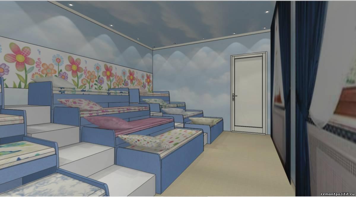 дизайн спальни в детском саде