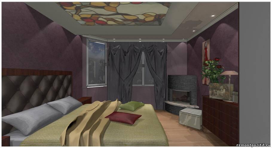 Дизайн спальни в типовой трехкомнатной квартире серии 121-3Т