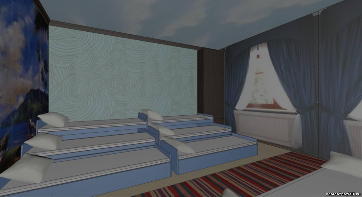 дизайн спальни в детском саду в морском стиле