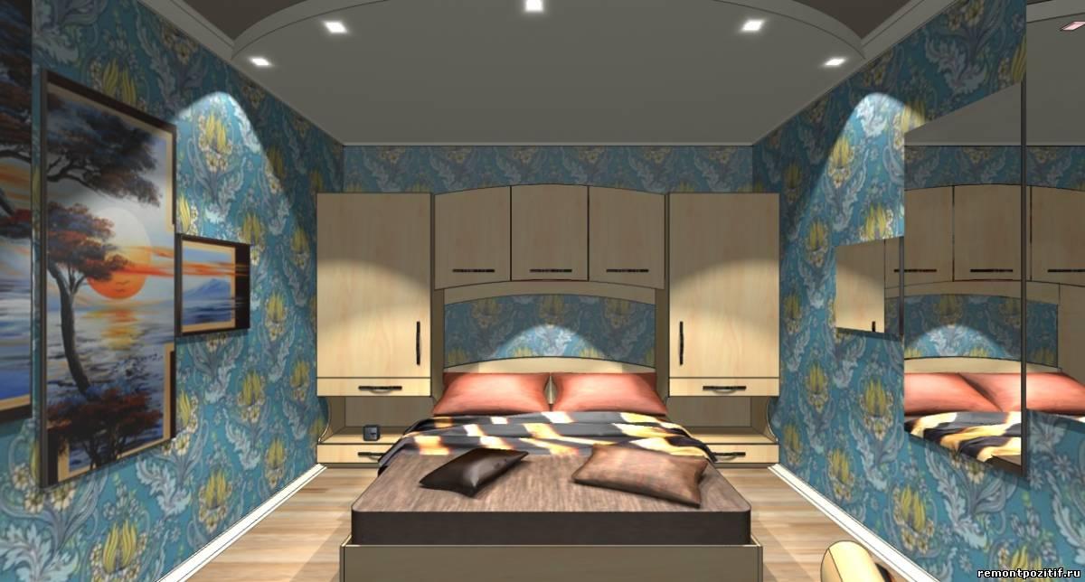 дизайн спальной комнаты 10 кв м без окон