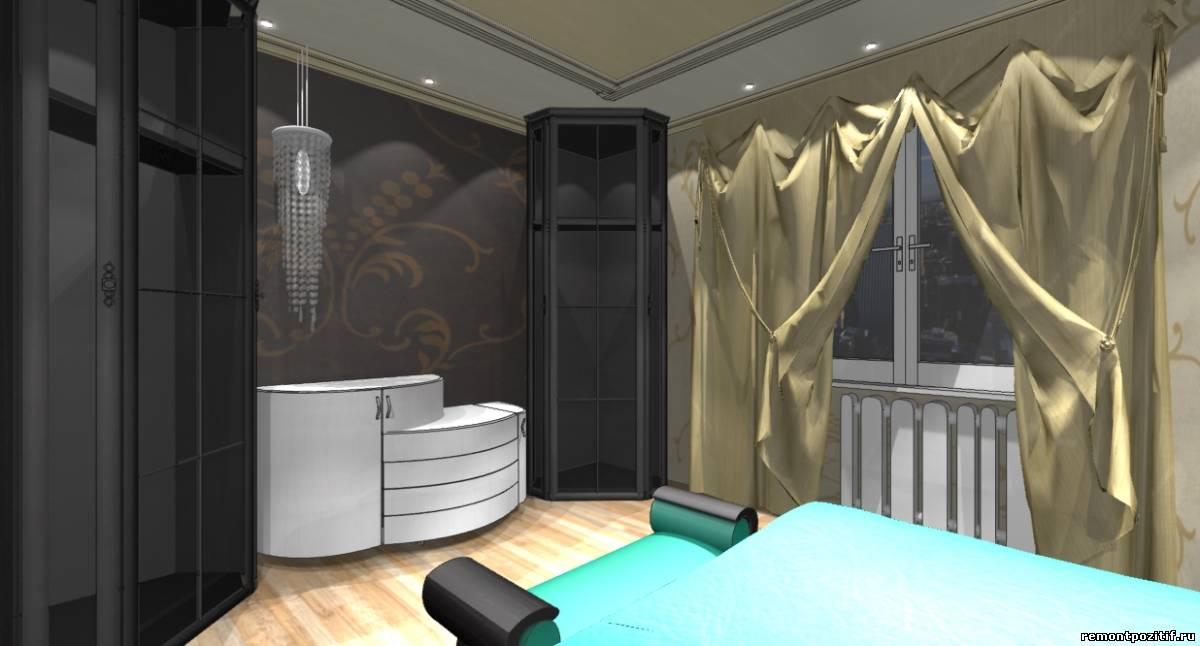 дизайн спальни в стиле модерн